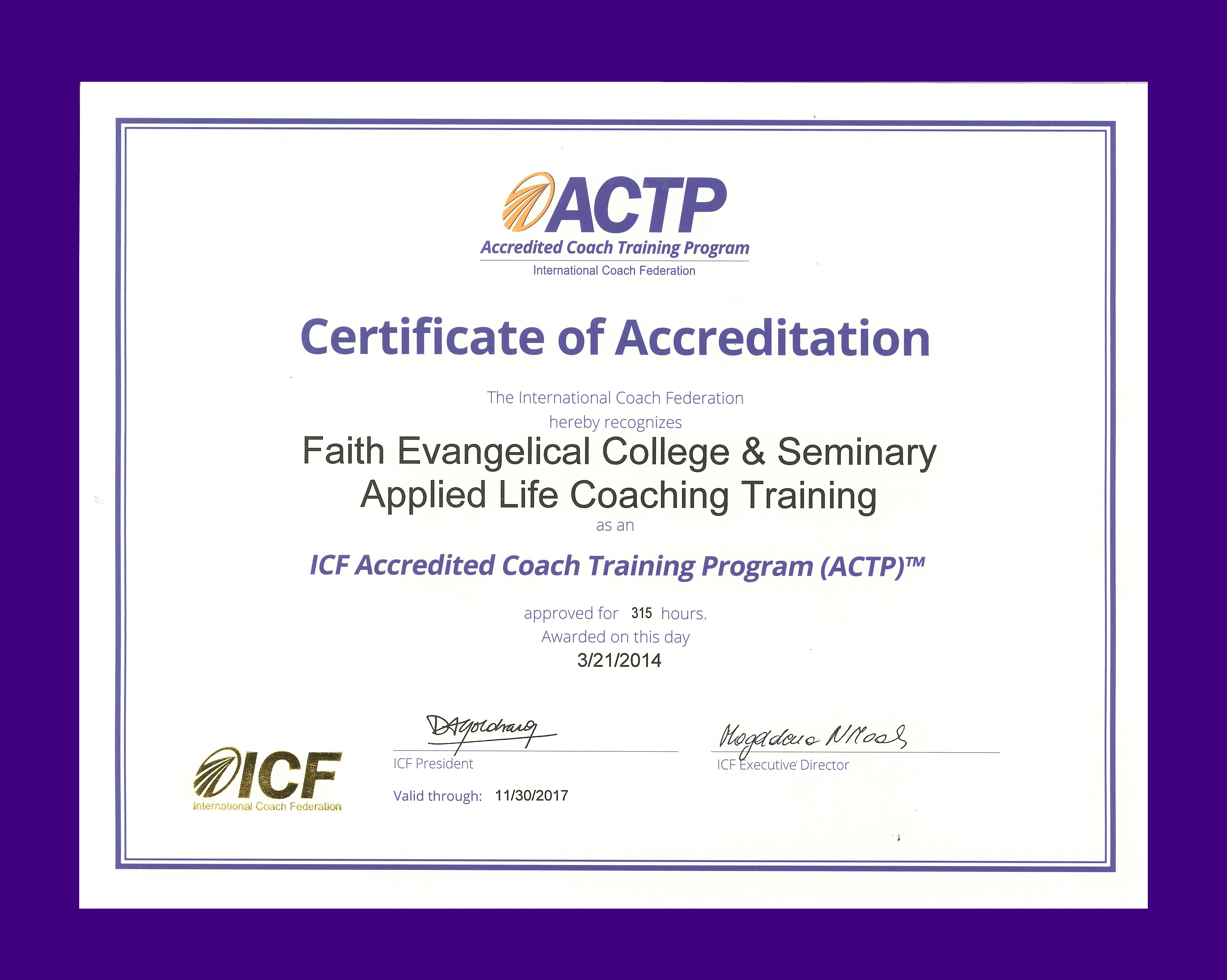 Applied Life Coaching Training Is Now Icf Accredited